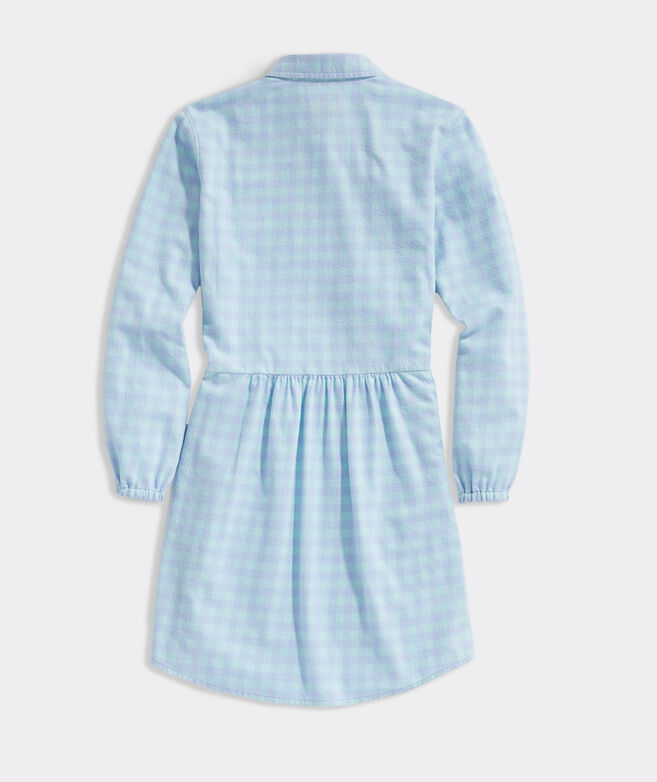 Girls' Bay Gingham Shirt Dress