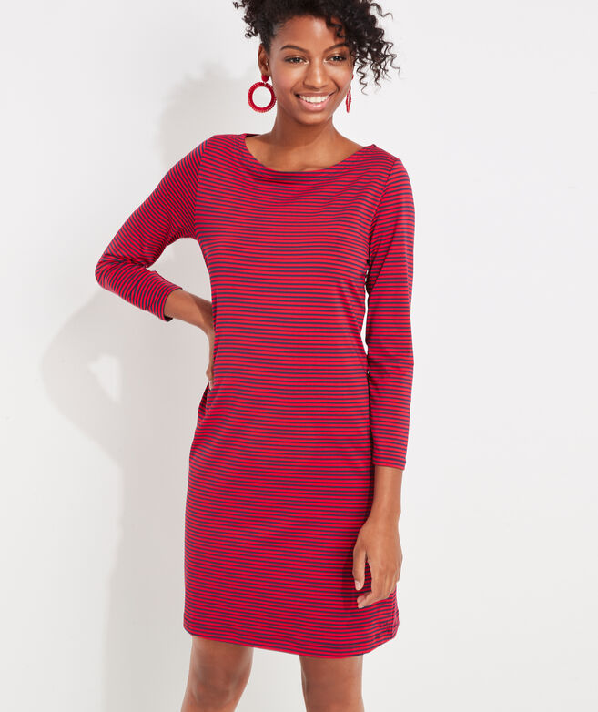 Striped Sankaty Boatneck Dress