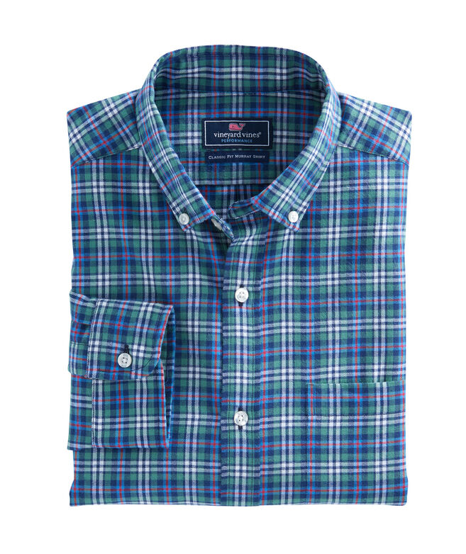 Wimer Plaid Performance Flannel Classic Murray Shirt