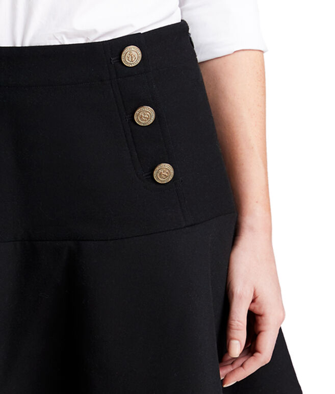 Ponte Flounce Nautical Skirt