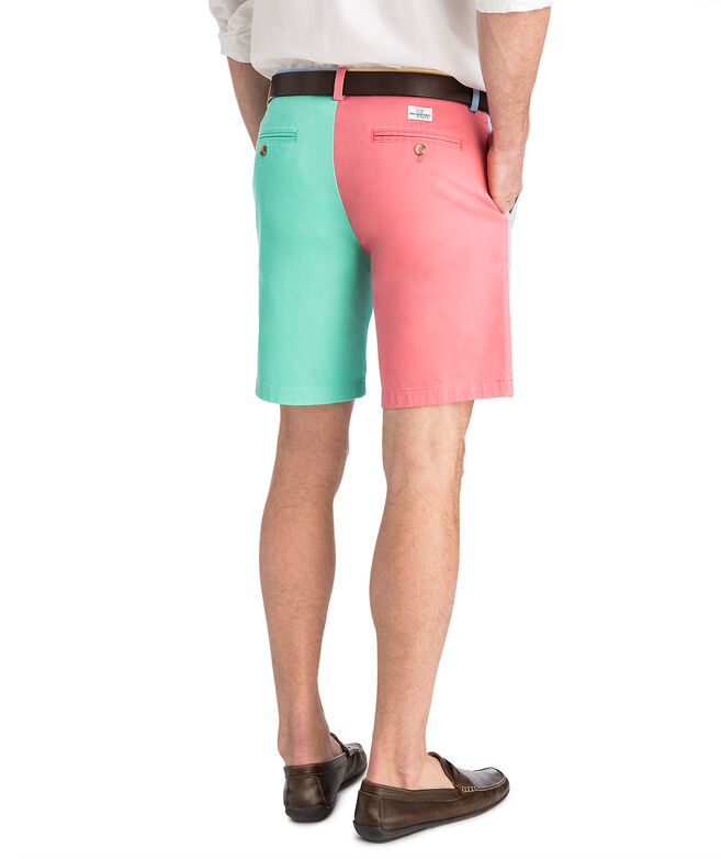 9 Inch Paneled Party Shorts