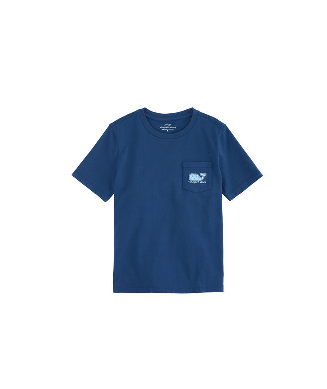 Boys Seahorse Waves Pocket T-Shirt