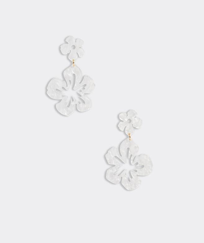 Hibiscus Floral Resin Earring
