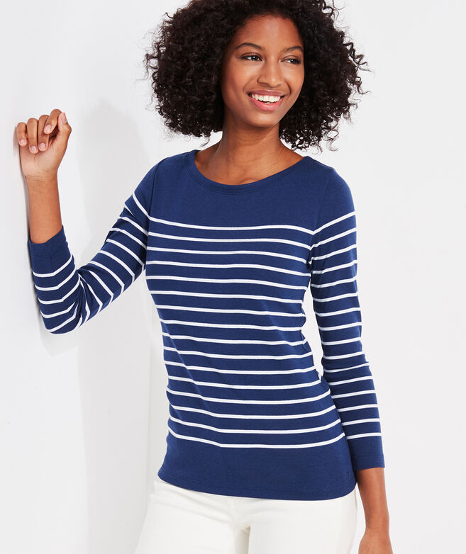 Sailor Stripe Simple Boatneck Tee