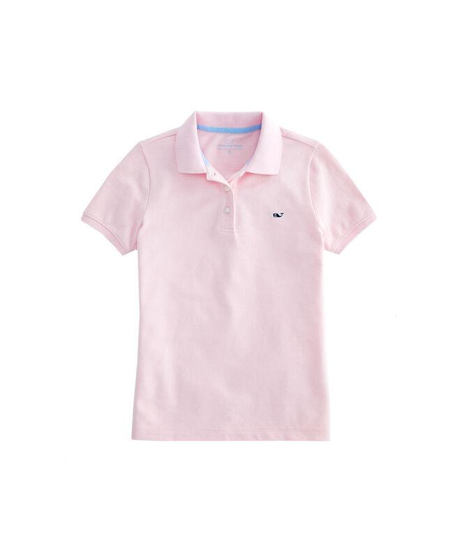 Girls New Short-Sleeve Pique Polo
