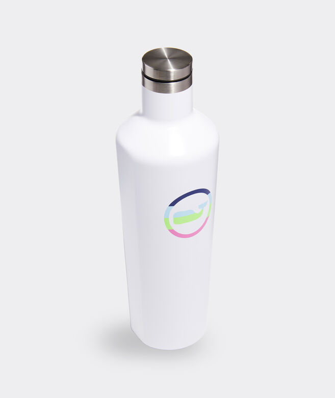 Neon Whale Dot Corkcicle Canteen