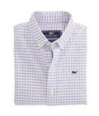 Boys Belle Haven Plaid Oxford Whale Shirt