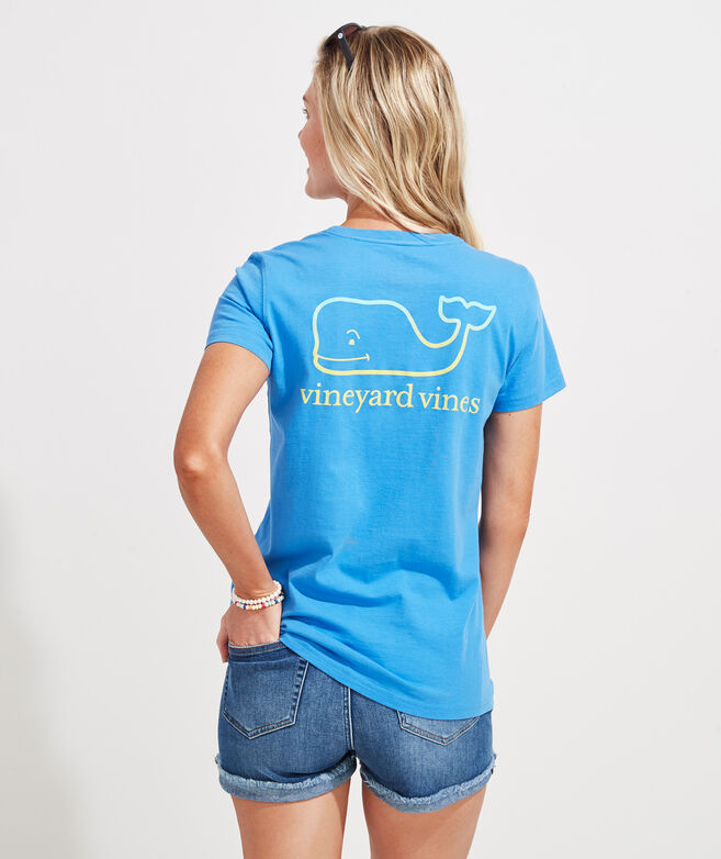 Gradient Vintage Whale Short-Sleeve Pocket Tee