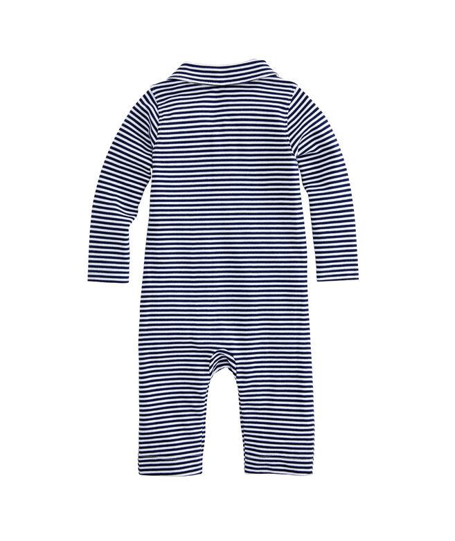 Baby Boy Feeder Stripe Polo One-Piece