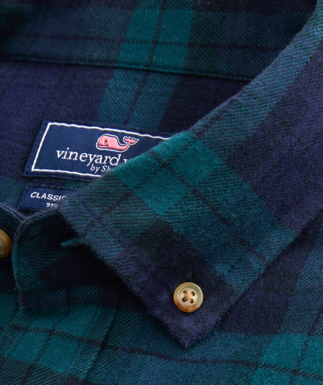 Classic Fit Pine Flannel Tucker Button-Down Shirt