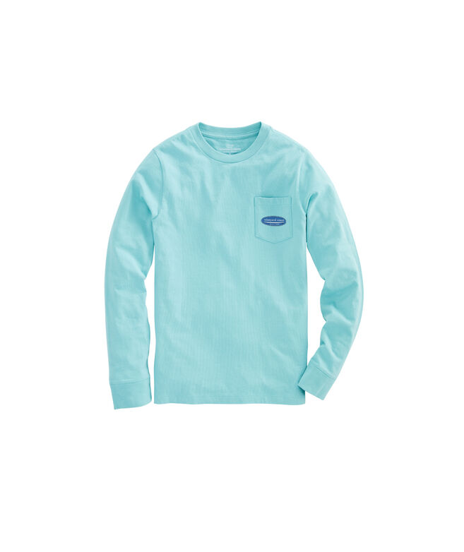 Boys Long-Sleeve Surf Logo Pocket T-Shirt
