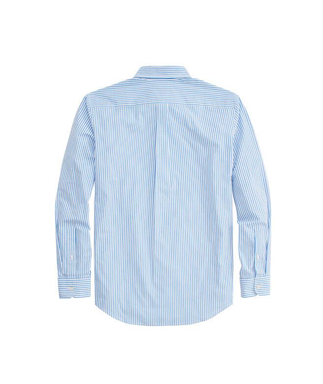 OUTLET Bimini Stripe Classic Poplin Whale Shirt