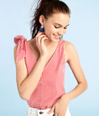 Taffy Stripe Bow Top