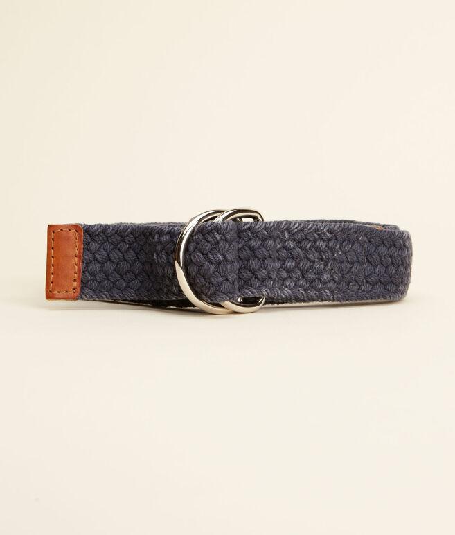 Vintage Braided D-Ring Belt