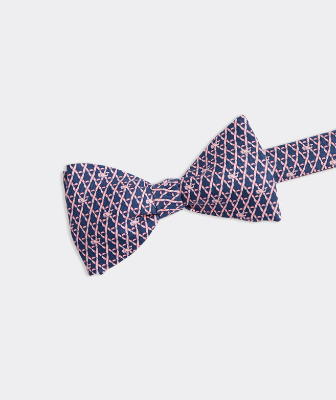 Limited-Edition Breast Cancer Awareness Geo Printed Bow Tie