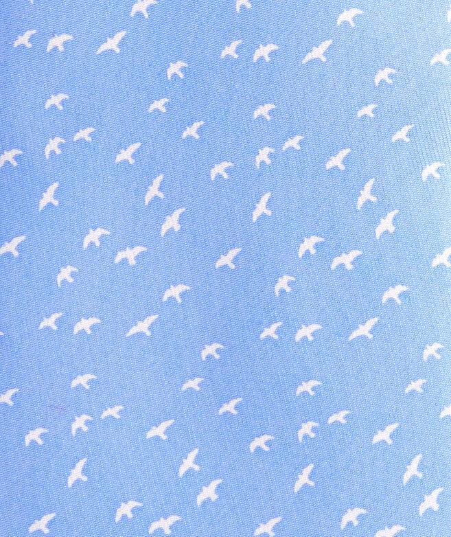 Bird Silhouette Printed Tie
