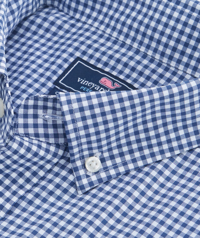 Grand Cay Gingham Performance Nylon Classic Tucker Shirt