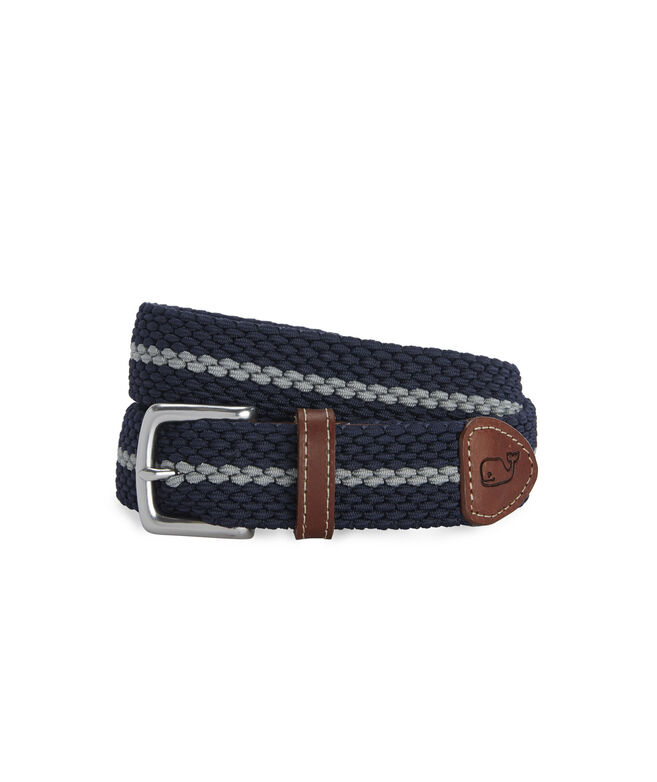 Collegiate Stripe Bungee Belt