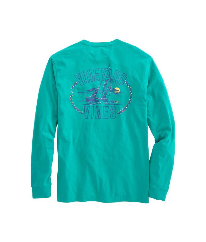 Long-Sleeve Holiday Sail Pocket T-Shirt