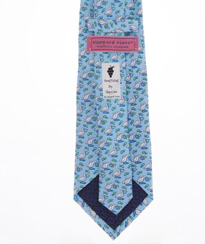 Pelican and Fish Tie