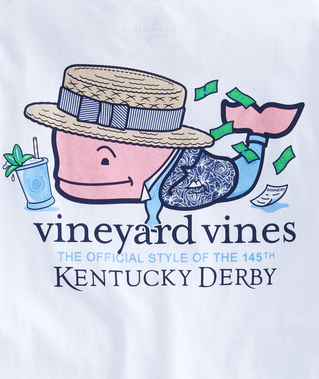 Kids Kentucky Derby Winner Whale Pocket T-Shirt