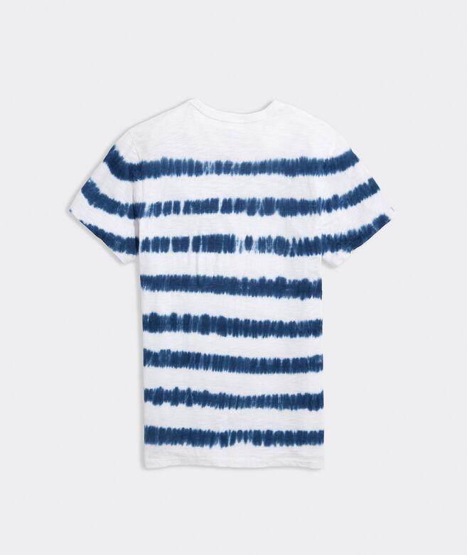 Tie-Dye Stripe Short-Sleeve Island Tee