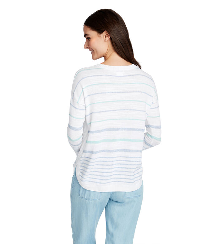 Stripe Relaxed Cotton Sweater