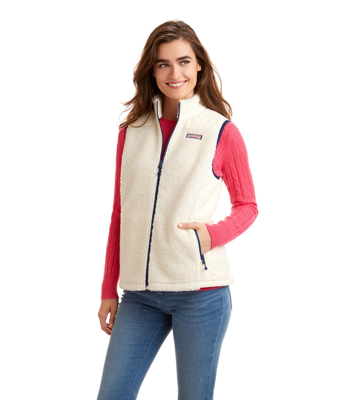 Vineyard vines fleece jacket women's