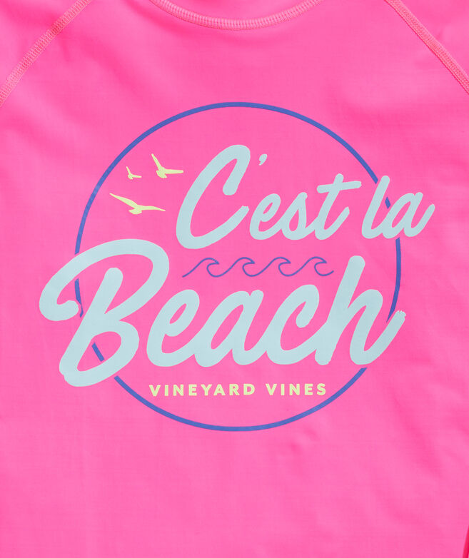 Girls' C'est La Beach Rashguard