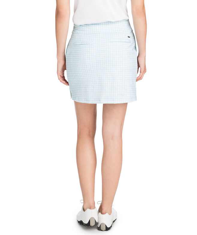 17 Inch Painted Gingham Skort