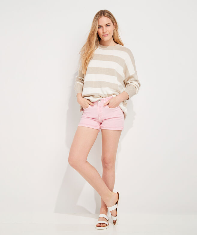 Open-Knit Crew Sweater