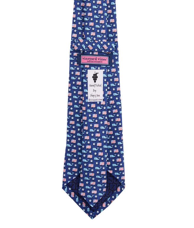 Boys Whale & Flag Tie