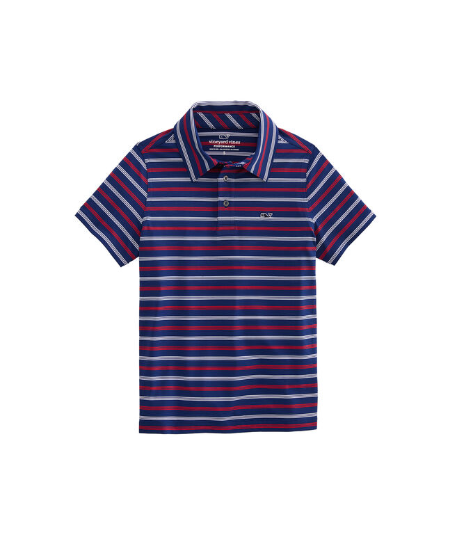Boys Camden Stripe Sankaty Performance Polo