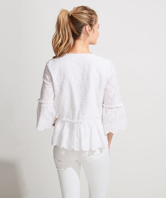 Island Eyelet Tiered Top