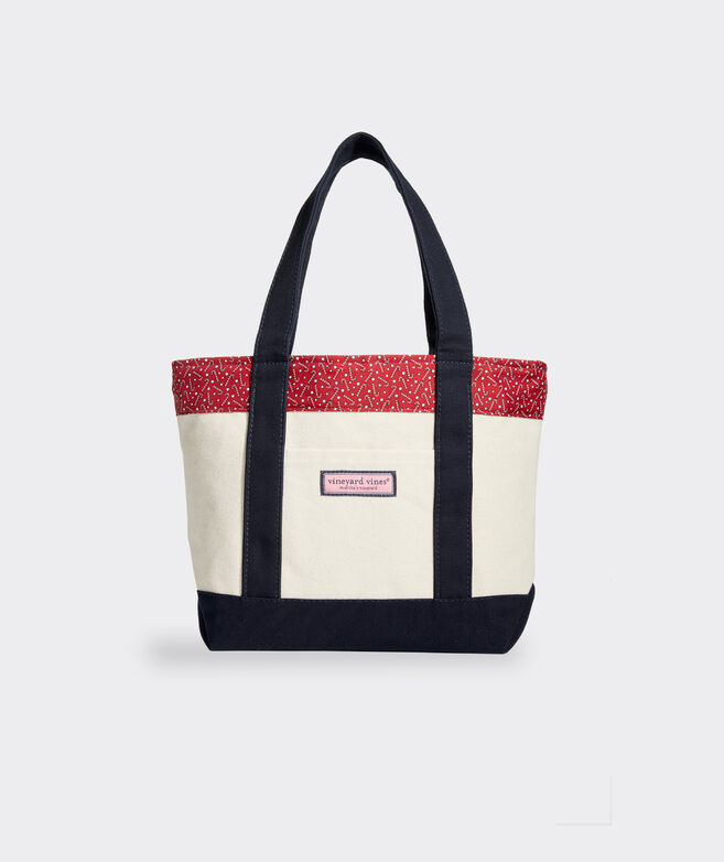 Tossed Candy Canes Mini Tote Bag