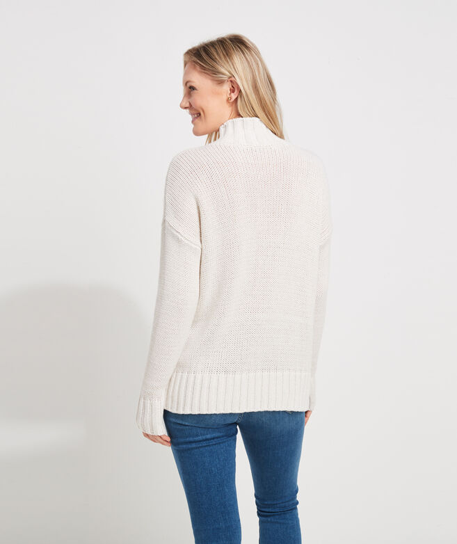 Subtle Shine Mockneck Sweater