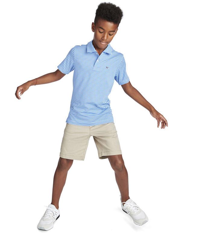 Boys Kennedy Stripe Sankaty Performance Polo
