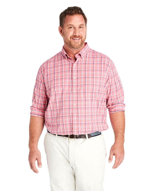 Big & Tall Classic Fit Bora Cotton Performance Murray Shirt