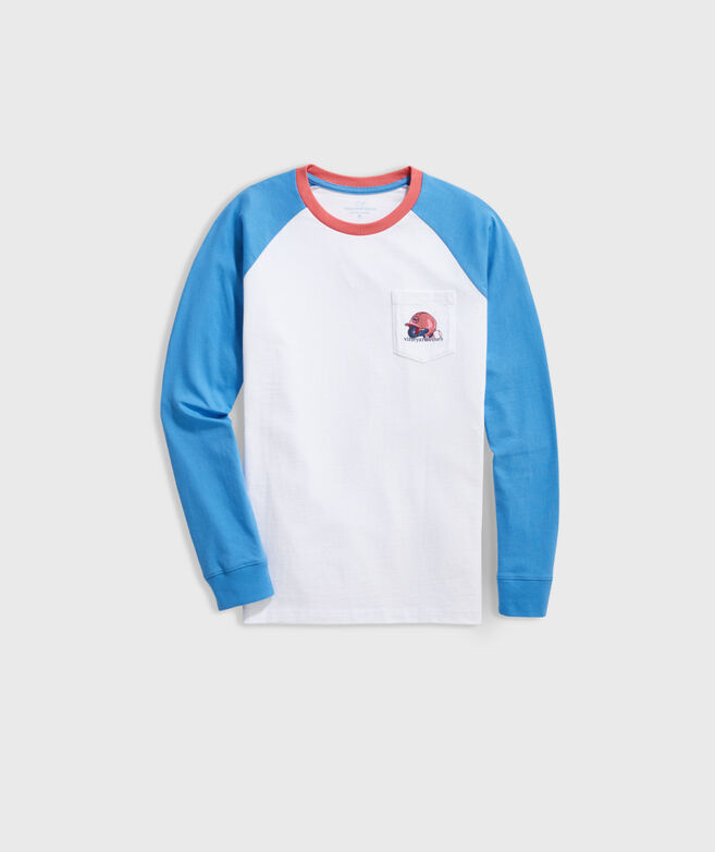 Boys' Raglan Baseball Long-Sleeve Pocket Tee
