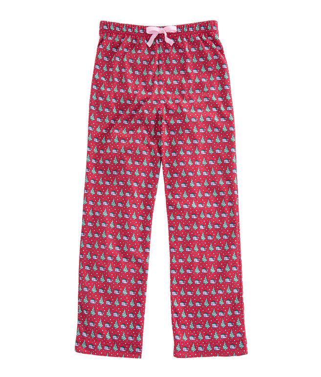 Girls Santa Whale & Tree Lounge Pants