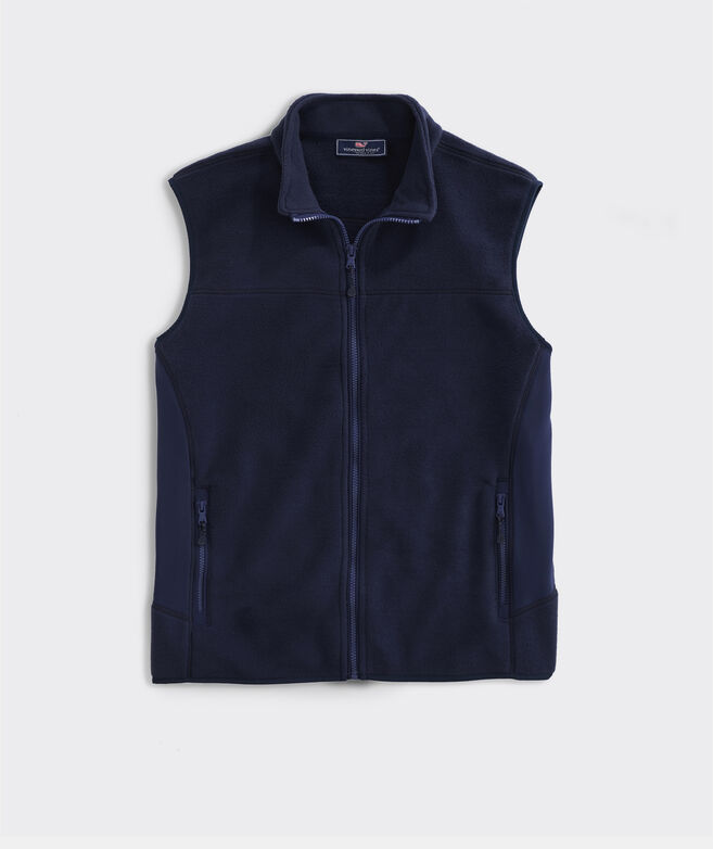 Men's Blank Tech Fleece Harbor Vest