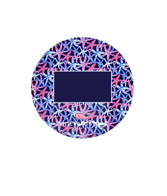 Monogrammed Starfish Coasters