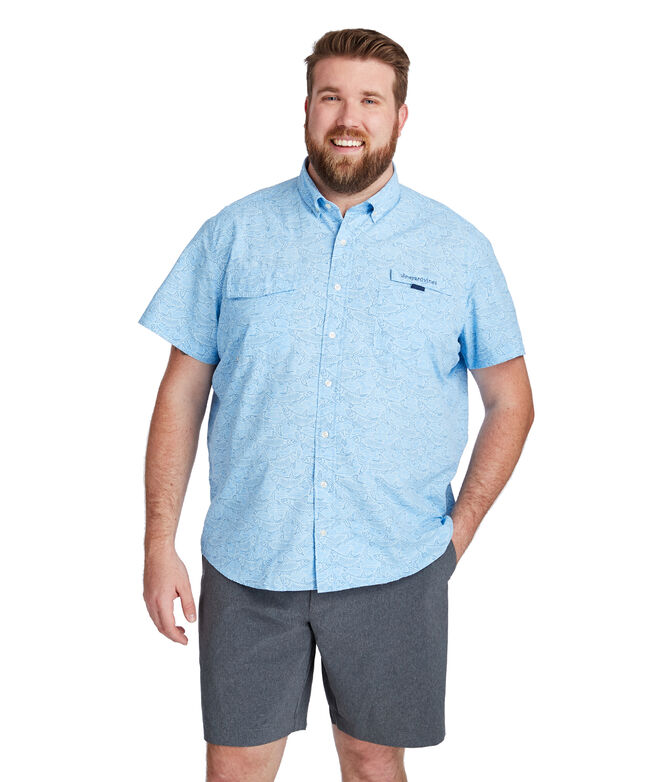 Tarpon Sketch Short-Sleeve Harbor Shirt
