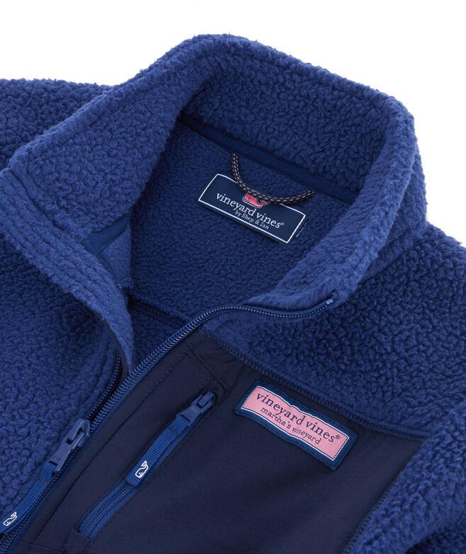 Boys Solid Sherpa Full-Zip Jacket
