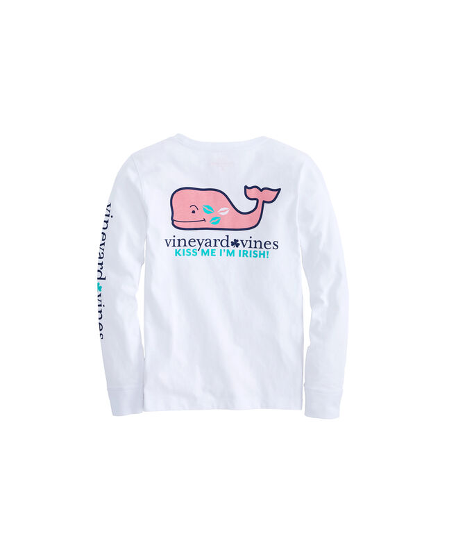 Girls Long-Sleeve St. Paddys Day 2019 Pocket Tee