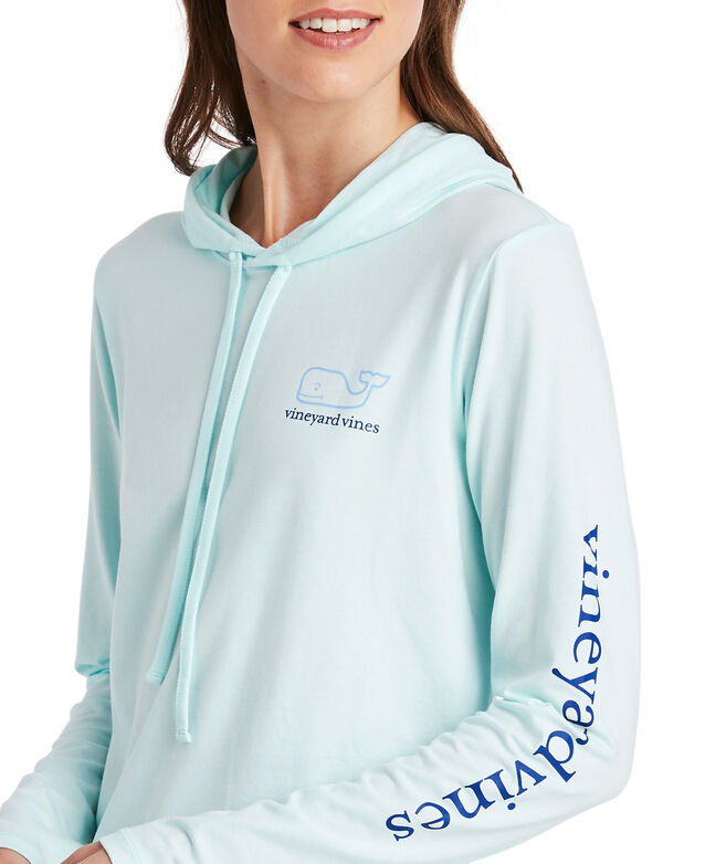 Long-Sleeve Edgartown Two-Tone Whale Hoodie