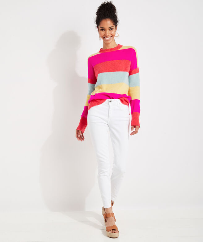 Seaspun Lightweight Cashmere Bright Stripe Sweater