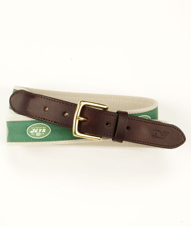 New York Jets Canvas Club Belt