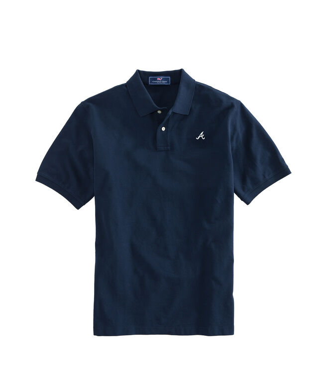 Atlanta Braves Stretch Pique Polo