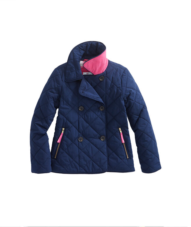 Shop Girls Quilted Coat at vineyard vines